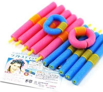 ZHUAN Sponge Rollers Curling Irons Hair Curlers Hairdressing Hair Volume Bouffants 12 Stems