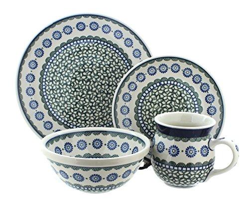 Blue Rose Polish Pottery Maia 16 Piece Dinner Set