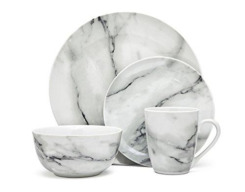Godinger Silver Art Marble Design 16 Piece Dinner Set