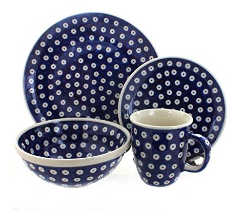 Polish Pottery Dots 16 Piece Dinner Set