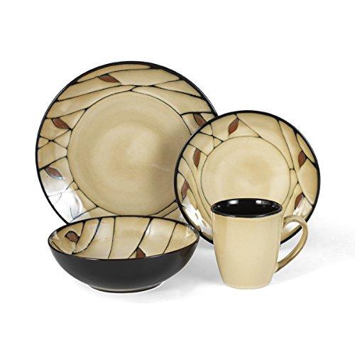 Pfaltzgraff Briar 16-Piece Round Stoneware Dinnerware Set Service for 4