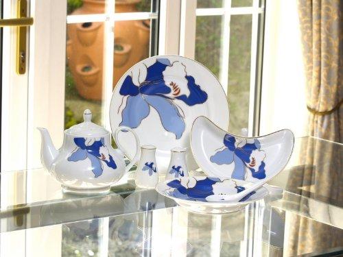 Blue Bell Design 68 Piece Porcelain Dinner Set 8 Place Setting