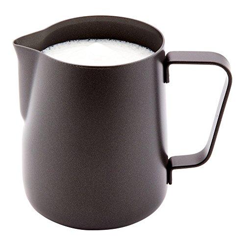 Black Milk Pitcher Black Drink Pitcher - Trendy Stylish - Stainless Steel - Black - 12 oz - 1ct Box - Met Lux - Restaurantware