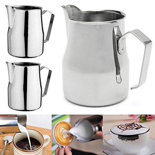 Stainless Steel Coffee JugWindGoal 350550750ML Coffee Frothing Milk Latte Jug Coffee Foam Cup Pitcher