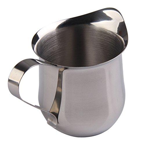 UltimaFioTM Home Supplies 5OZ  150ml Stainless Steel Milk Cream Waist Shape Cup Jug Coffee Shop Home Kitchen Accessories