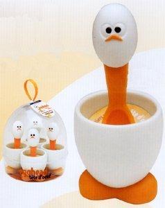 MSC International Egg Cup Spoon Set - Egghead
