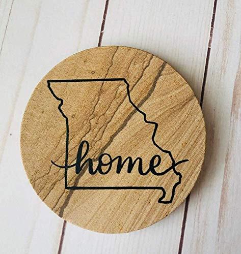 Custom Home State Thirstystone Sandstone Coasters Set of 4