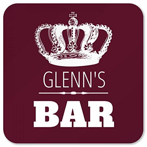Glenns Crown Bar Coaster Square Plastic Coaster