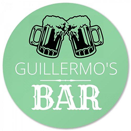 Guillermos Bar Coaster Foamy Beer Round Plastic Coaster