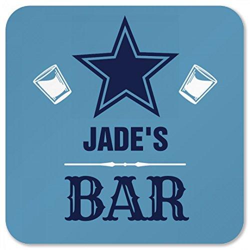 Jades Star Bar Coaster Square Plastic Coaster