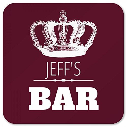 Jeffs Crown Bar Coaster Square Plastic Coaster