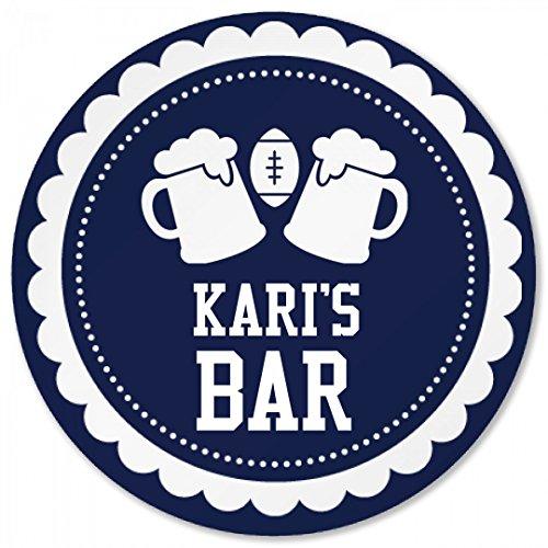 Karis Football Beer Bar Coaster Round Plastic Coaster
