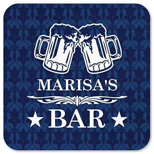Marisas Classy Beer Bar Coaster Square Plastic Coaster
