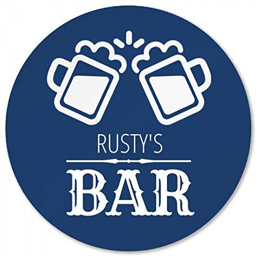 Rustys Beer Bar Coaster Round Plastic Coaster