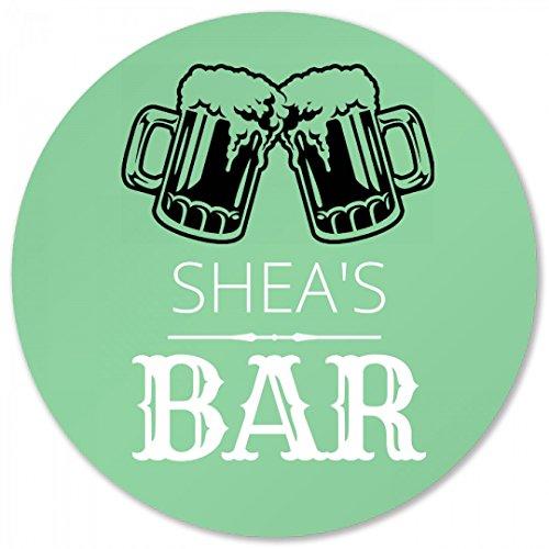 Sheas Bar Coaster Foamy Beer Round Plastic Coaster