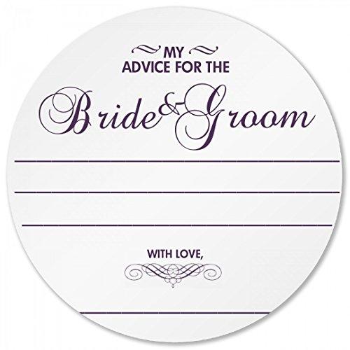 Wedding Advice Coaster Round Plastic Coaster
