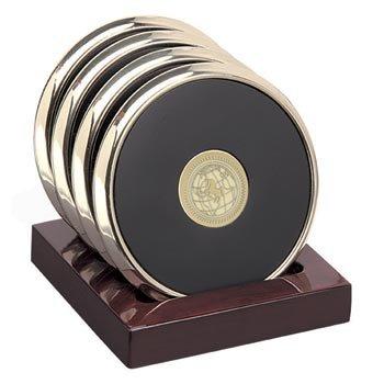 US Naval Academy - Brass Coaster Set