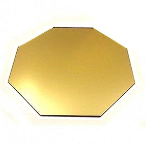 4 Octagon Gold Mirror Acrylic Coasters