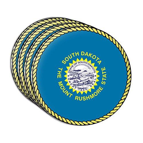 South Dakota State Flag Acrylic Coaster Set of 4