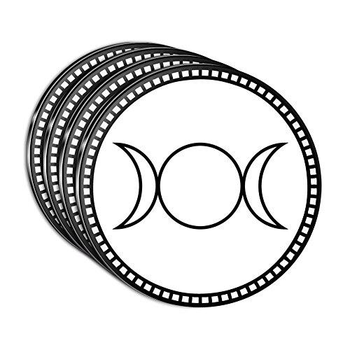 Triple Goddess Moon Acrylic Coaster Set of 4