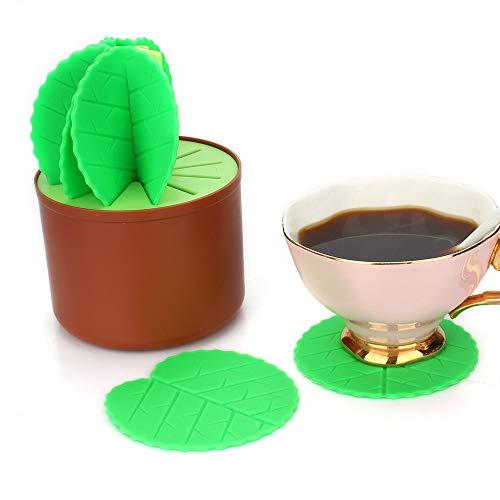 Fiesta Table Decoration Cactus Bonsai Shape Silicone Coasters Set Heat Insulation Table China Multi