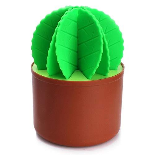 Table Decoration Cactus Bonsai Shape Silicone Coasters Set Table Mat  Green