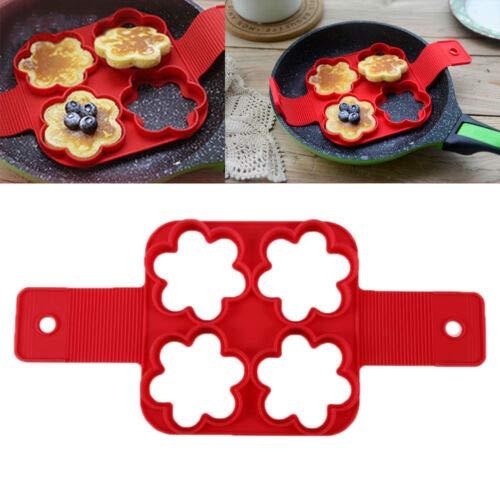FidgetKute Non Stick Pancake Pan Flipper Perfect Breakfast Maker Egg Tools for Kitchen 4-hole lace