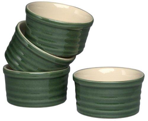 Emile Henry Le Potier 6-Ounce Ramekins Set of 4 Green