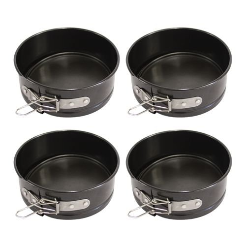 4 Non-Stick Mini-Bakeware Springform Pans 475