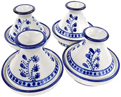 Le Souk Ceramique AZ18 Stoneware Mini Serving Tagines Set of 4 Azoura