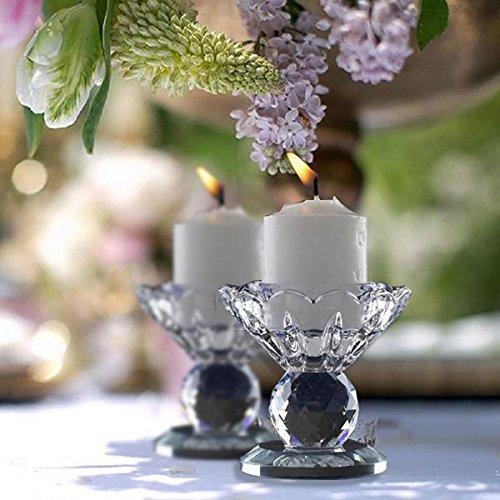 Efavormart 25 Handcrafted Glass Crystal Prism Votive Candlestick Holder Table Top Decor Wedding Centerpiece - 1 PCS