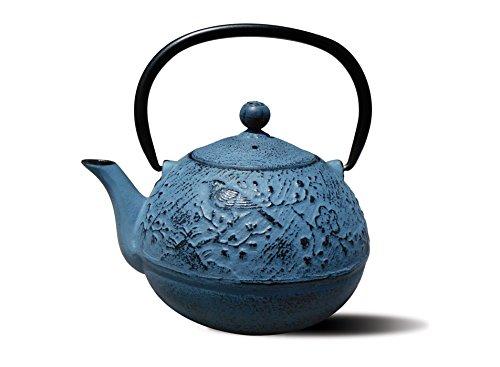 Old Dutch Cast Iron Suzume Teapot 24-Ounce Waterfall Blue