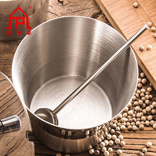 Stainless steel304Seasonning boxSpice jarSingle scoop creative kitchen supplies salt jar Chili oil tank Seasoning jars-A