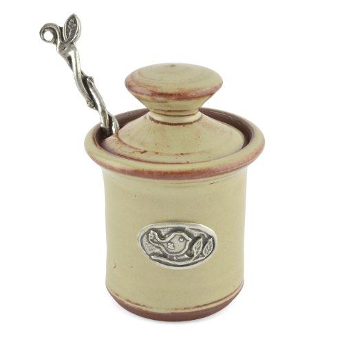Oregon Stoneware Studio Bird Petite Salt Pot Latte