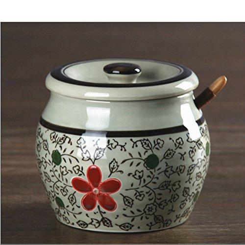 Salt pot japanese seasoning hand-paintedSpice jar Ceramic package The cruet Pepper pot Sugar bowl Spice cans-R