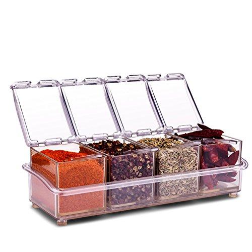 sauce bottle season box setVertical kitchen salt pot sugar bowlSpice jars spice box kitchen supplies-B
