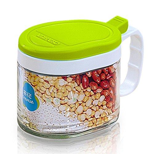 Spice jar glass salt shakerKitchen Spice jar seasoning jars creative seasoning box-C