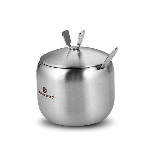 stainless steel Spice jar the cruetseasonning box seasoning jars the Spice box salt shaker the kitchen Spice jar-A