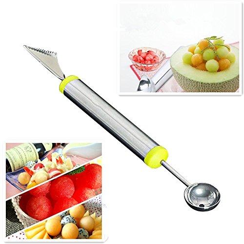 HongXander tainless Steel Ice Cream Scoop Frozen Yogurt Watermelon Spoon Tools