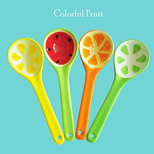 Lovely Fruit Watermelon Spoon Japanese Style Creative Ceramic Tableware Ice Cream SpoonRandom Style
