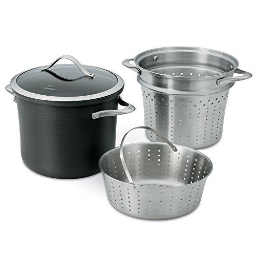 Calphalon Contemporary Hard-anodized Aluminum Nonstick Cookware, Multi-pot With Steamer Insert, 8-quart, Black