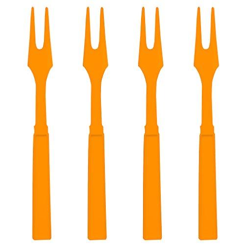Soodhalter Orange Par-T-Fork 60 Plastic Cocktail Forks 325 Inch Appetizer Picks