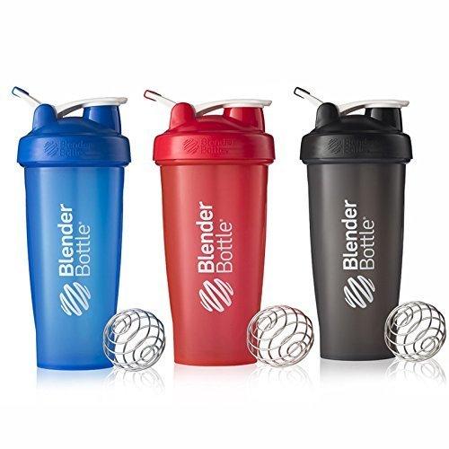 BlenderBottle 28oz Classic Loop Top Shaker Bottle 3-Pack Full Color BlueBlackRed