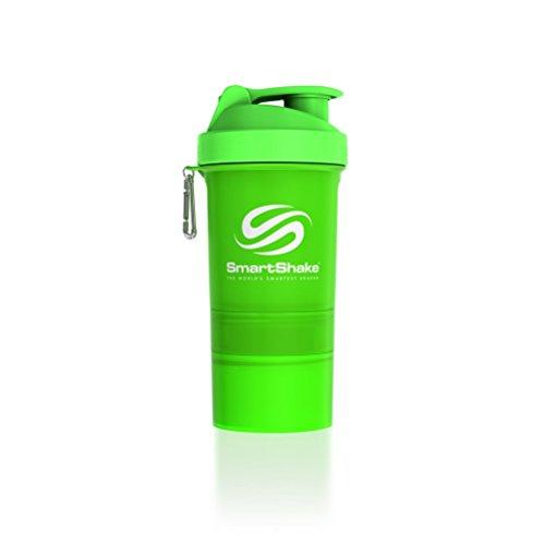 SmartShake Original Bottle 20 oz Shaker Cup Neon Green