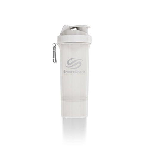SmartShake SLIM Bottle 17 oz Shaker Cup Pure White