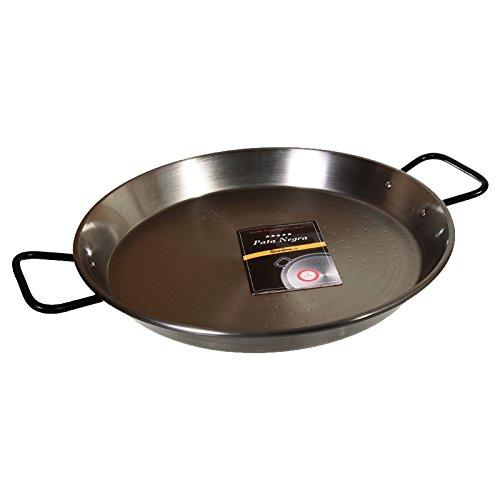 "La Paella 13 1/2"" Pata Negra Restaurant Grade Paella Pan, Medium, Silver"