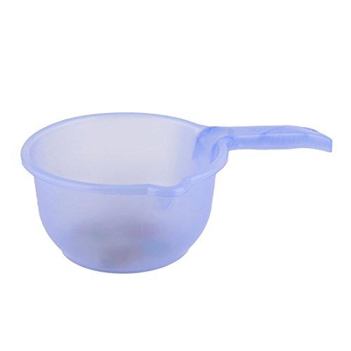 uxcell Flower Pattern Plastic Kitchenware Round Water Ladle Dipper Scoop Light purple