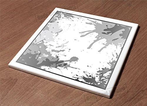 Ceramic Hot Plate kitchen Trivet Holder Black splash paint decor desin gift