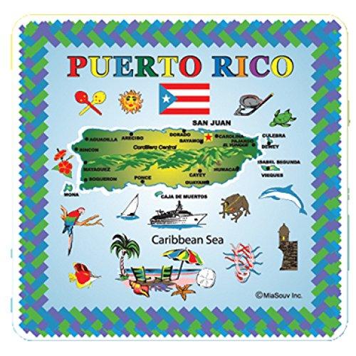 Tile 6 x 6 Map of Puerto Rico Kitchen Trivet Holder Ceramic Hot Plate Tile
