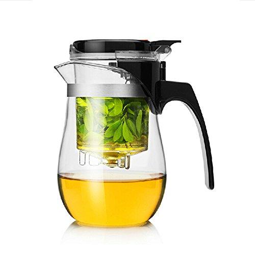 Dechunxian Best Teapot Tumbler Infuser Perfect Loose Tea Leaves Maker Easiest Tea Brewing Solution